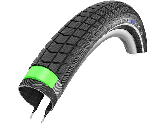 "SCHWALBE Big Ben Plus Cykeldæk 24"" GreenGuard SnakeSkin E-50 Performance Reflex sort"